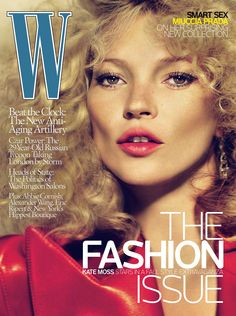 <em>W</em> Magazine's Supermodel Cover Girls - Kate Moss on the cover of W Magazine September 2009