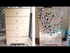 DIY Mirrored Dresser & Night Stands! - YouTube