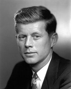 JFK's portrait as a young congressman in the late 1940s
