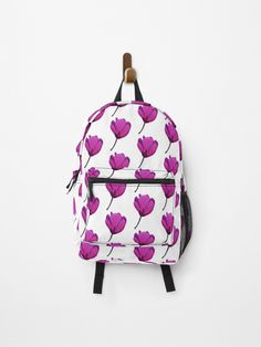 Purple flower • Millions of unique designs by independent artists. Find your thing. Canvas Prints, Art Prints, Purple Flowers, Cotton Tote Bags, Fashion Backpack, Chiffon Tops, Backpacks, Artists, Unique