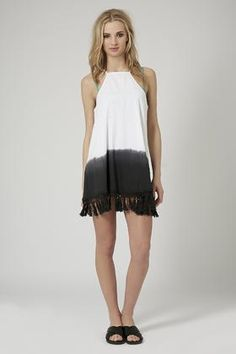 Topshop Crochet Tassel Dip-Dye Dress
