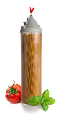 A $23 spaghetti container with built-in portion controls!