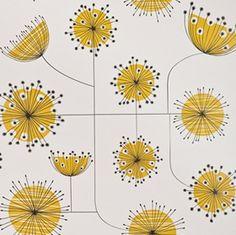 Dandelion Mobile - Porcelain with Yellow walnutwallpaper.com