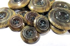 Celluloid Buttons Bubble Top Buttons Sixteen (16) VINTAGE Matching Celluloid Buttons Coat Buttons Vintage Buttons Sewing Supplies (F8) by punksrus on Etsy