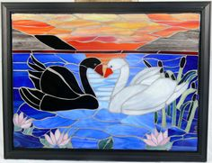 Mosaic done in glass.