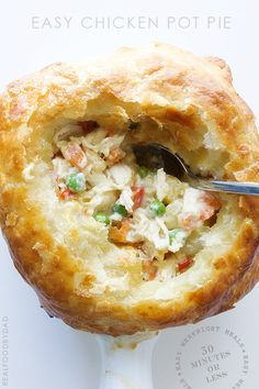 Easy Chicken Pot Pie - oh my word, yes.