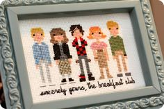 Breakfast Club cross-stitch