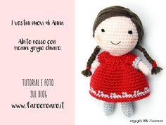 mini bambola amigurumi schema vestito.