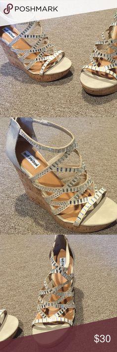 Rhinestone Detail Wedges Never worn rhinestone Wedges 4 in Shoes Platforms