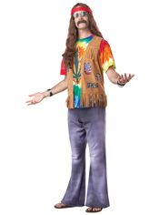 Attend Woodstock in this Plus Size Retro Men's Hippie Costume, and feel the good vibes! Bring your guitar and join in the party. 70s Halloween Costumes, 70s Costume, Hallowen Costume, Adult Costumes, Halloween Ideas, Halloween Town, Halloween Makeup, Costume Ideas, Hippie Style