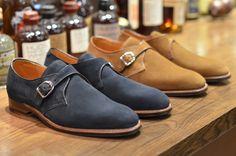 Alden Shoe – Plaza Suede Flex Monkstrap