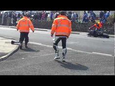 """HD"" Guy Martin 130mph Motorcycle Crash NW200 2012 (Aftermath)"