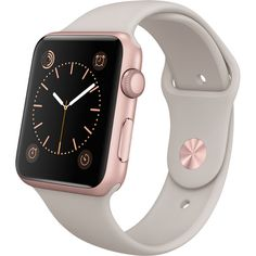 Apple Watch Sport 42mm Smartwatch (Rose Gold Aluminum, Stone Band)