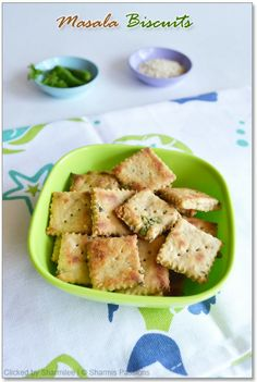 Masala Biscuits(Savoury Crackers):
