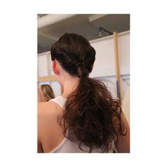 Rolled ponytail.