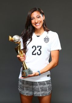 Christen Press, outtakes from Sports Illustrated commemorative World Cup covers. (Simon Bruty/Sports Illustrated)