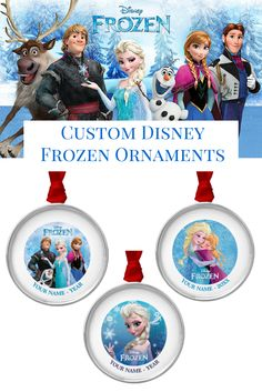 """If 2014 was """"The Year of Frozen"""" in your home, freeze the moment with an official Disney custom ornament from Zazzle.com."""