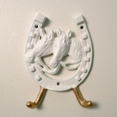 lucky horses wall hook by monkeyandsquirrel on Etsy, $20.00 >> LOVE this, my home could use a new and awesome hook!!