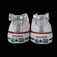 Crystal Bling Converse With Matching Sparkling Back by CrystalMess, £79.00
