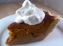 Fluffy Pumpkin Pie with Walnuts