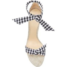 Alexandre Birman Clarita Gingham Sandal (150 KWD) ❤ liked on Polyvore featuring shoes, sandals, black shoes, alexandre birman, gingham shoes, alexandre birman shoes and kohl shoes