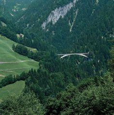 Robert Maillart Salgina Valley in Schiers, Switzerland in 1930. Photo by Mancia/Bodmer FBM Studio.