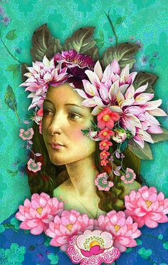 ⊰ Posing with Posies ⊱ paintings of women and flowers - Botticelli Angel by Romany Soup, via Flickr