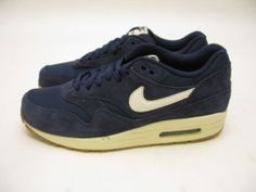 Nike Air Max 1 Essential Midnight Navy Sail Black 537383 411 | eBay