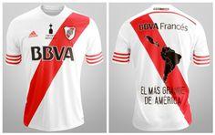 River Plate 2015 Copa Libertadores Champions adidas Home Jersey