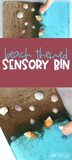 This beach sensory bin is a great summertime activity kids! If you don't live near a beach, this can be a lot of fun for toddlers, preschoolers, and even older kids too. #sensorybin #summerfun #playtime