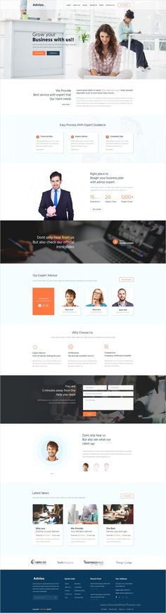 Advise is a clean and modern design #PSD #template for #Financial #Advisor, Accountant, Banking and Consulting Firms website with 2 unique homepage layouts and 12 organized PSD pages download now➩ https://themeforest.net/item/adviso-finance-consulting-business-psd-template/17450876?ref=Datasata