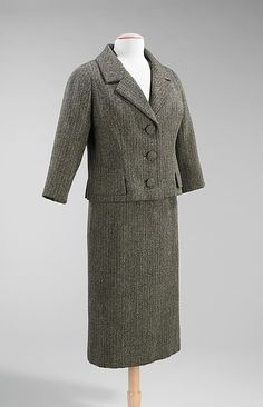 Suit Design House: House of Dior (French, founded 1947) Designer: Yves Saint Laurent (French (born Algeria) Oran 1936–2008 Paris) Date: spring/summer 1959 Culture: French Medium: wool