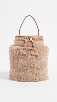 Detachable Faux Fur Cylinder Bag. Beige Shoulder BagsShoulder HandbagsBeige  ... 228ff1c743f2f