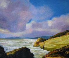 "Saatchi Art Artist Ieva Baklane; Painting, """"The Coast"""" #art"