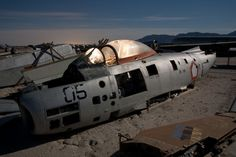 The western deserts of the United States are a vast repository of aircraft graveyards large and small, a place where aerospace innovation meets history and even folklore. This abandoned aviation boneyard is but one haunting example.