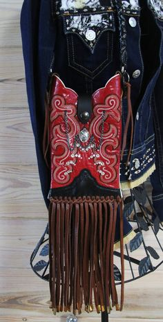 Red Leather Cowboy Boot Purse by GriffinsCloset on Etsy, $320.00