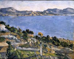 The Estaque from the Gulf of Marseille  - Paul Cezanne