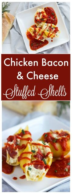 Chicken Bacon and Cheese Stuffed Shells - Goat and feta cheeses ...