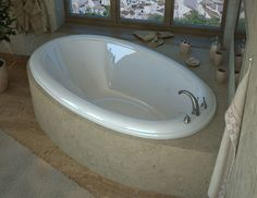 """Martinique 70"""" x 42"""" Oval Whirlpool Bathtub with Reversible Drain"""
