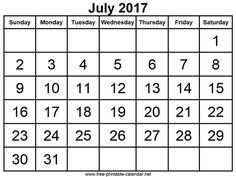July  Calendar  Calendar     Free Blank