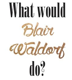 Blair Waldorf by AnaGlazierCreative on Etsy