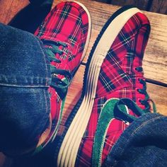 tartan Nikes