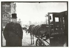 Paarden met rijtuig op het Leidseplein in Amsterdam, George Hendrik Breitner, Harm Botman, c. 1890 - c. 1910