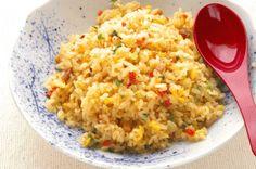 Fried Rice with Scallions, Edamame and Tofu