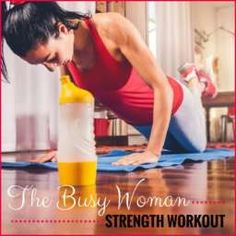 Crazy busy? Then this 7-minute strength workout is for you! Do it to start your day or sneak it in over lunch! #workout
