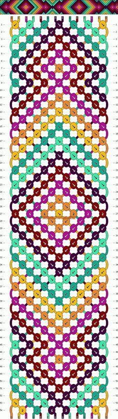 Friendship Bracelet Knot Patterns | Patterns - Normal - Friendship Bracelet Pattern #7531 by marie