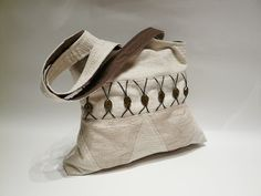 Beige fabric bag