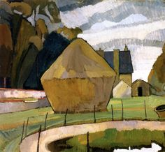 The Haystack, Asheham - Vanessa Bell - 1912; take me back to the studio