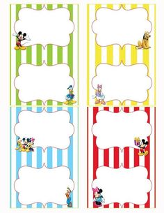 Mickey Mouse Clubhouse Birthday Party Food Labels! by Janette Hamilton RLKoV