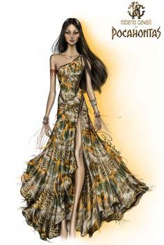 Harrods Disney Princesses. Pocahontas by Roberto Cavalli.